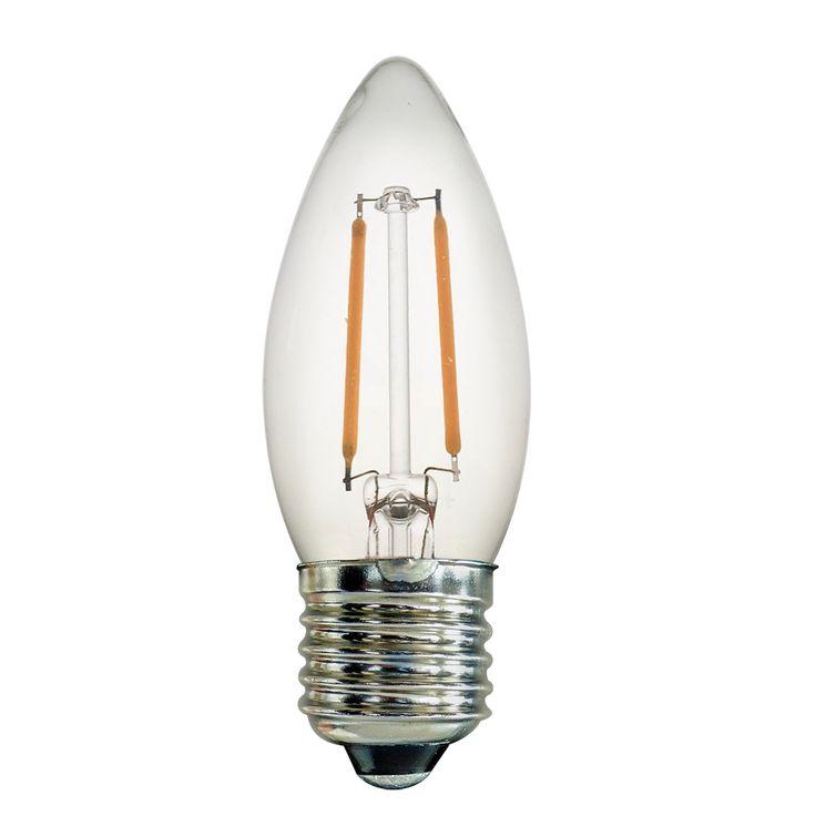 Simple Boasting of an elegant opal finish the Watt Candle Clear LED bulb