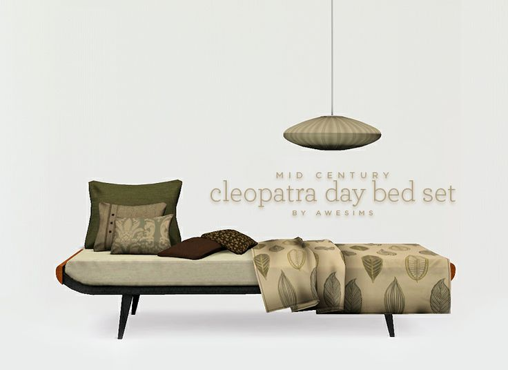 Cleopatra Daybed Set   Free Sims 2 And Sims 3 Downloads At Awesims!