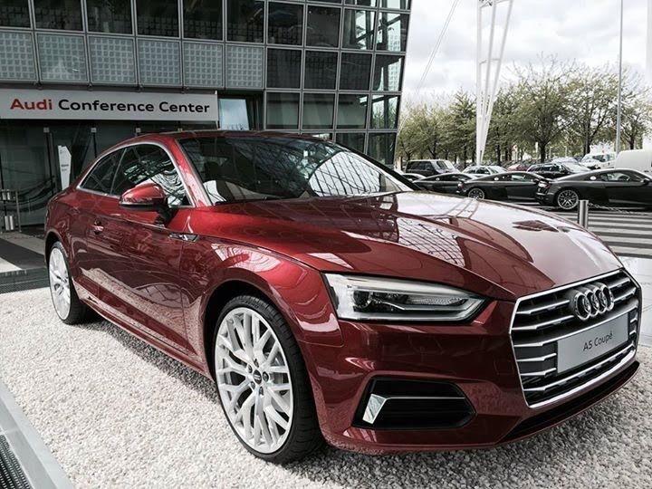 Nieuwe Audi A5 Coupé in Matador rood