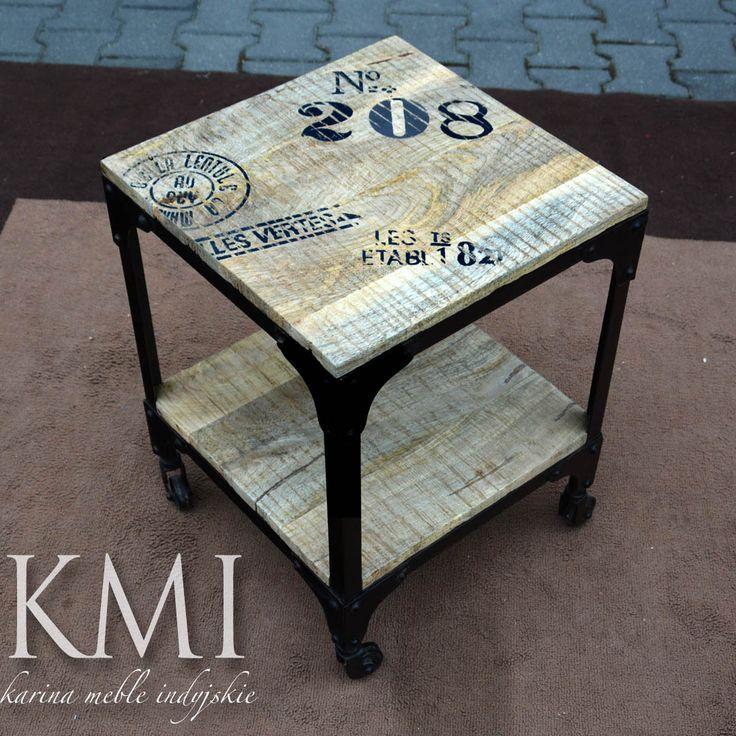 meble loftowe stolik na kółkach