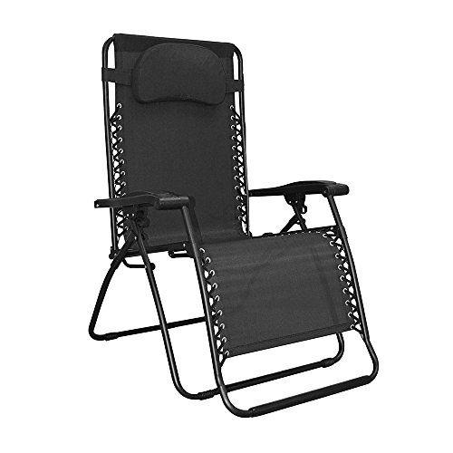 Caravan Sports Infinity Oversized Zero Gravity Chair Black