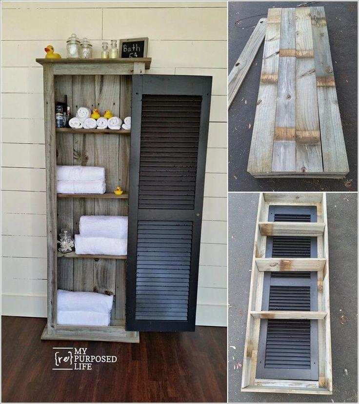 Wunderbare rustikale Aufbewahrungsideen für Ihr Badezimmer #DecoratingTowelsForBathroom
