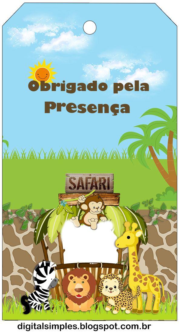 Safari Bebés: Imprimibles Gratis para Fiestas.
