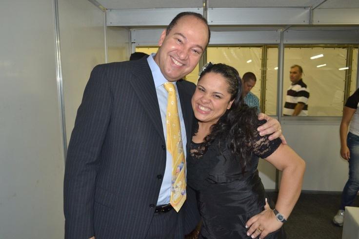 Everaldo Pereira com a cantora Cassiane