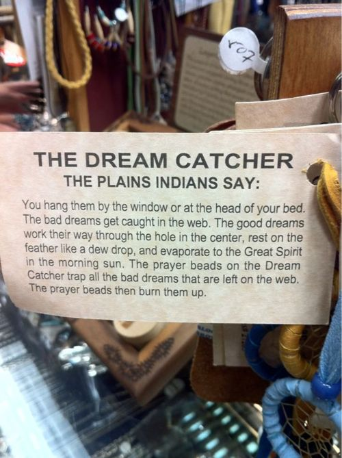 Out of respect please don't hang in the rearview mirror of your cars! Dream catchers