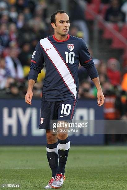 Landon Donovan The Slovenia National Team played the United States National Team to a 22 at Ellis Park Stadium in Johannesburg South Africa in a 2010...
