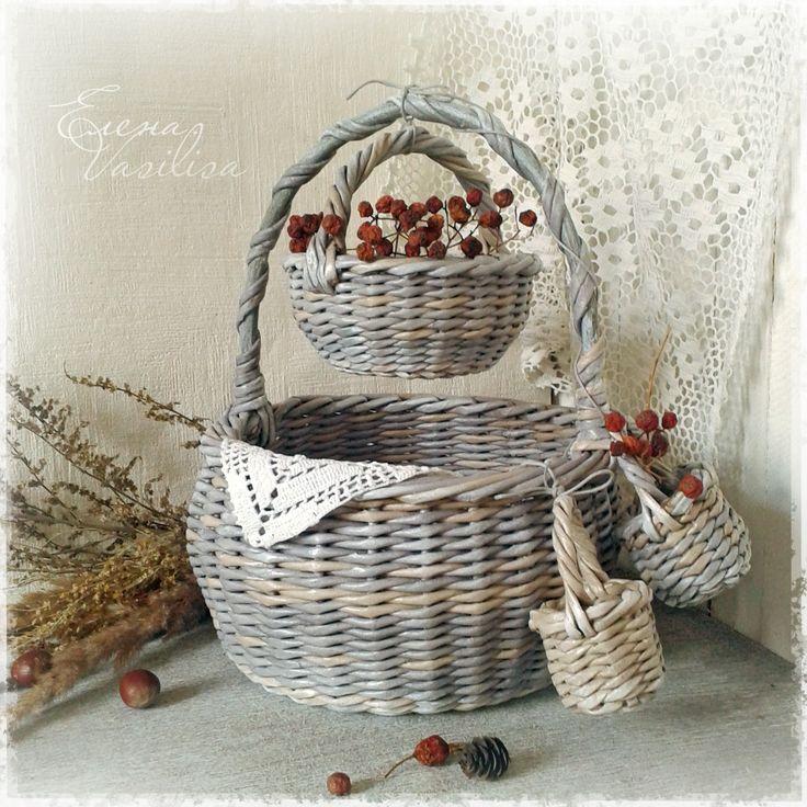веселая семейка))) плетение из бумаги.