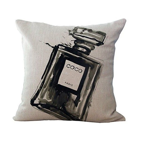 Amazon.com: Throw Pillow Coco Pillow Cover Decorative Pillow Black... ($7.99) ❤ liked on Polyvore featuring home, bed & bath, bedding, cream pillow cases, black pillow cases, black bedding, cream colored bedding and beige bedding