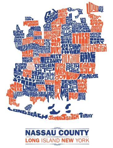 Nassau County Town Type Map Nassau County Nassau County