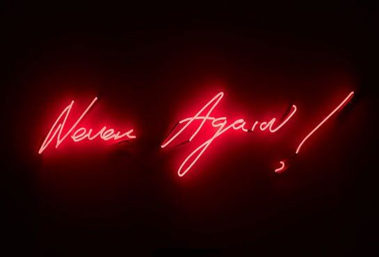 Tracey Emin's Neon Works at the Museum of Contemporary Art, North Miami