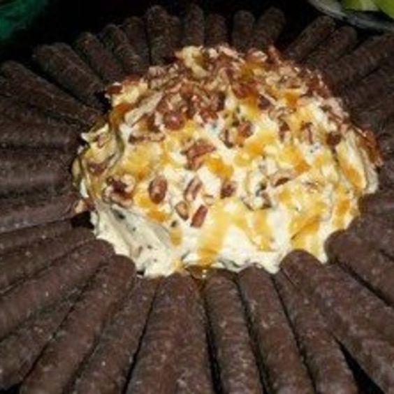 Turtle cheesecake ball