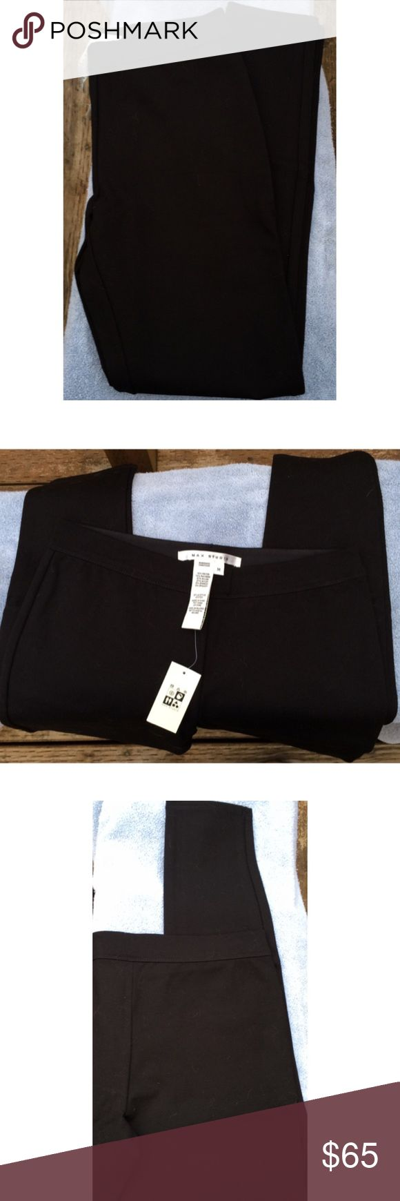 Max Studio Thick Black Leggings Not sure if I should call these tights, leggings or just pants...they are very thick with a sturdy elastic waste band. Little lint from towel its displayed on. Size medium. Rayon, nylon & spandex. 💯 Authentic (most receipts have been posted).  🚫No trades  ✅Only respectable offers made thru the OFFER tool accepted ❣️Please be kind as that's what you'll get in return ☮️Thanks for the opportunity to share my goods w/ u Max Studio Pants