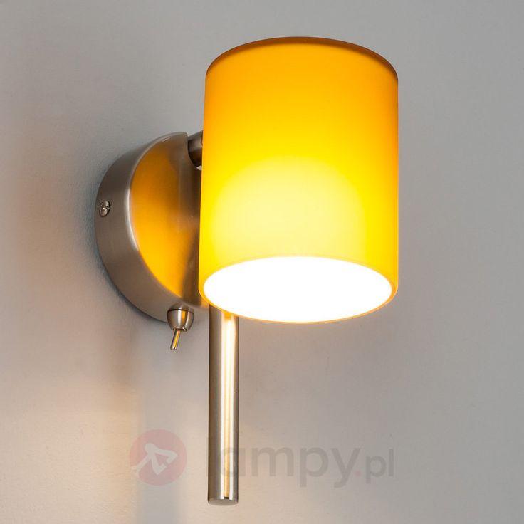 WILLIAM lampa ścienna LED G9 ze szkła, bursztynowa bezpieczne & wygodne zakupy w sklepie internetowym Lampy.pl.