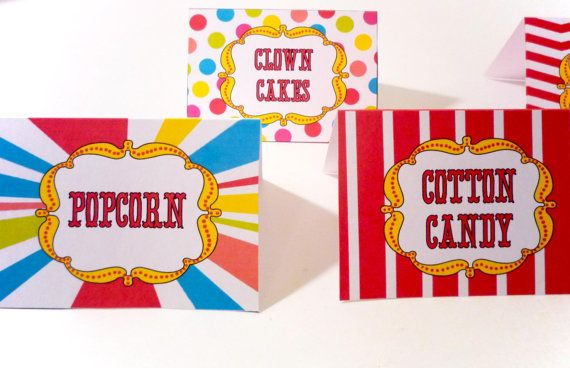 Circus Carnival Clown Party Printable Labels for by OpalandMae, $8.00