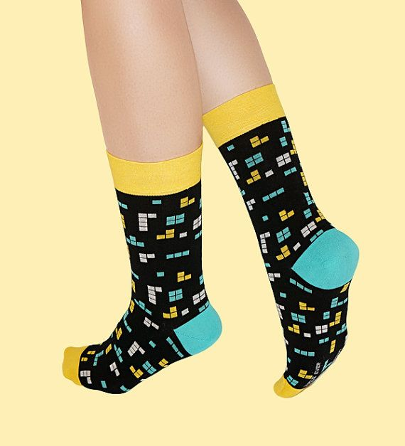 Retro Game Socks womens socks casual socks cool socks by UNIQUE EVER