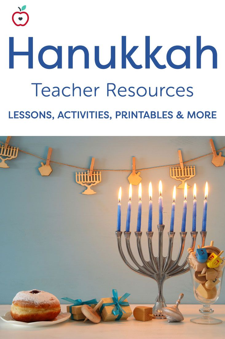 "Hanukkah, the ""Festival of Lights,"" starts on the 25th day of the Jewish calendar month of Kislev & lasts for eight days and nights. Explore the rich traditions and history of Hanukkah, with our lessons, printables, activities, & more. Your students will enjoy learning the meaning behind the holiday, creating their own dreidels, singing Israeli children's songs, writing holiday poems, taking Hanukkah-themed quizzes, & much more! You'll find the materials you need, no matter what grade you…"