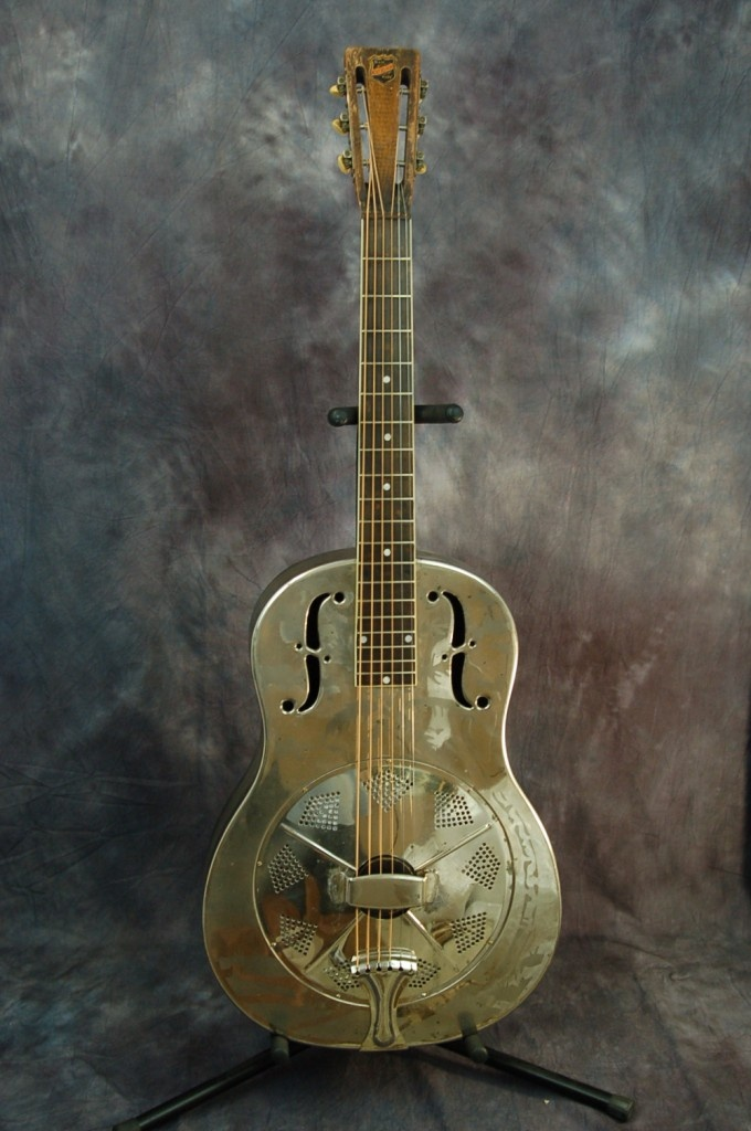 Used Guitars for Sale – 1933 National Metal Body Style O Chrome Resonator Guitar with Original Hardshell Case | Lawman Guitars