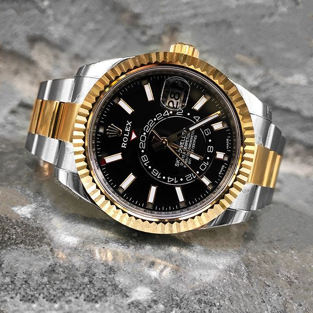 Rolex Sky,Dweller Two,Tone Black Face! What an Elegant Piece