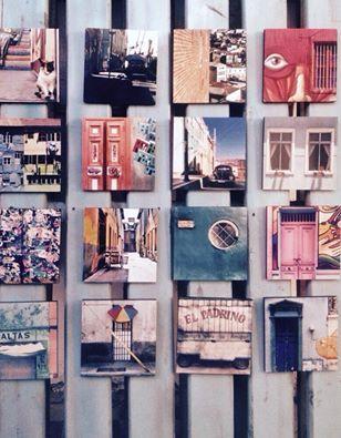 Pallet collage Gallery at Barrio Italia Santiago de Chile