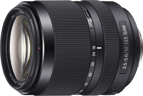 Sony - 18-135mm f/3.5-5.6 A-Mount Standard Zoom Lens - Black, SAL18135