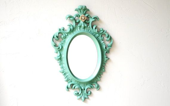 French Country Vintage Mirror Light Green ReLoved Vintage Bling Home Decor $58.00 @ etsy.comGorgeous Mirrors, Country Vintage, Country Mirrors, Mirrors Lights, Pretty Inside, Reloved Vintage, French Country, Pink Tonka, Lights Green