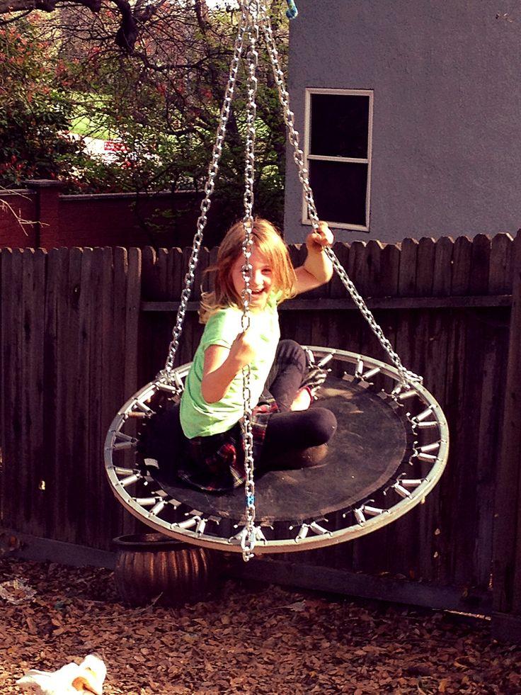 Best 20 trampoline swing ideas on pinterest for Trampoline porch swing