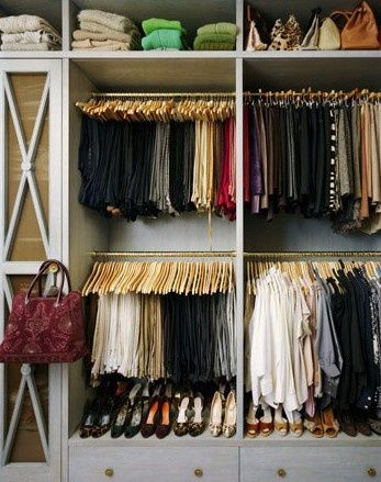 closet organizers small closets | Isn't this closet fabulous? Both organized and beautiful, everything ...