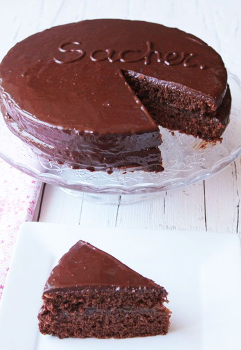 Tarta Sacher de chocolate