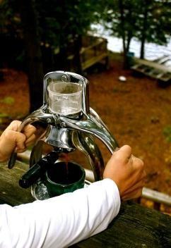 ROK espresso maker - a hand-power driven appliance