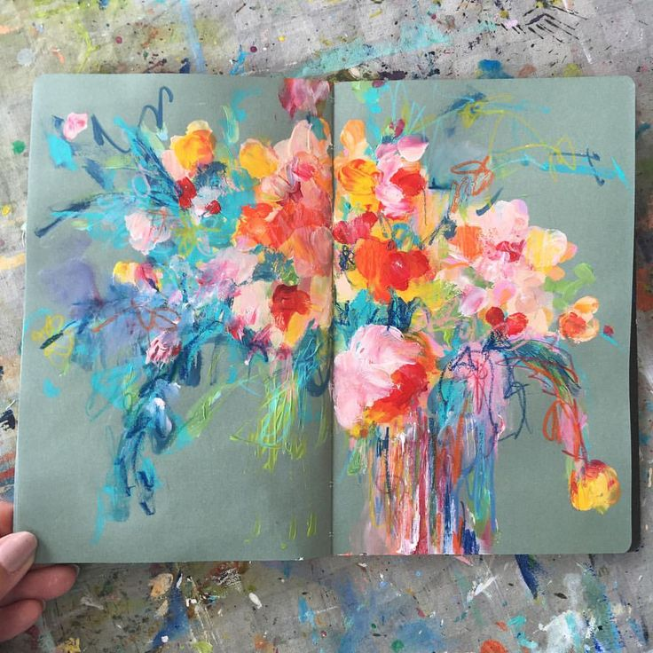 """3,982 Likes, 89 Comments - @sonaln on Instagram: """"today's sketchbook . . . #painting #sketchbook #abstractflowers #dscolor #dsfloral #iloveflowers…"""""""