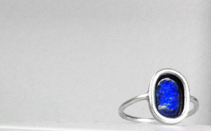 Blu, 2014.  Anello, argento925, smalto. Ring, silver925, enamel. € 50.00