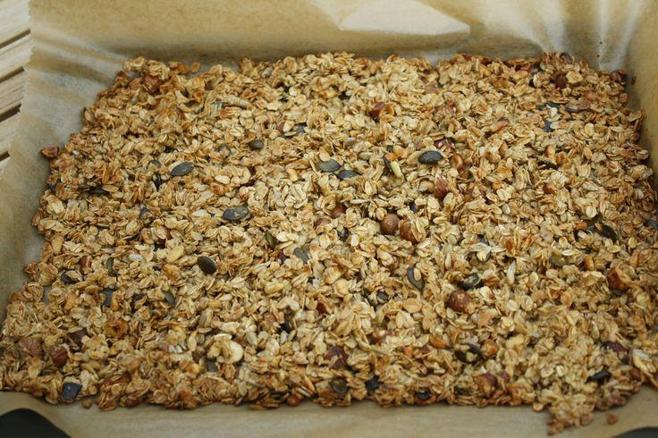 Knuspermüsli - Granola - Rezept - Marsmaedchen