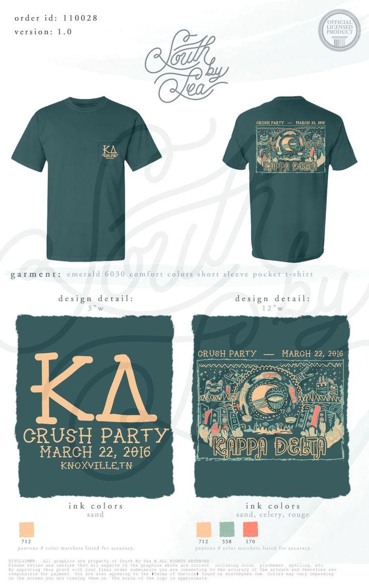 Kappa Delta | KD | Crush Party | Party Theme T-Shirt Design | South by Sea | Greek Tee Shirts | Greek Tank Tops | Custom Apparel Design | Custom Greek Apparel | Sorority Tee Shirts | Sorority Tanks | Sorority Shirt Designs