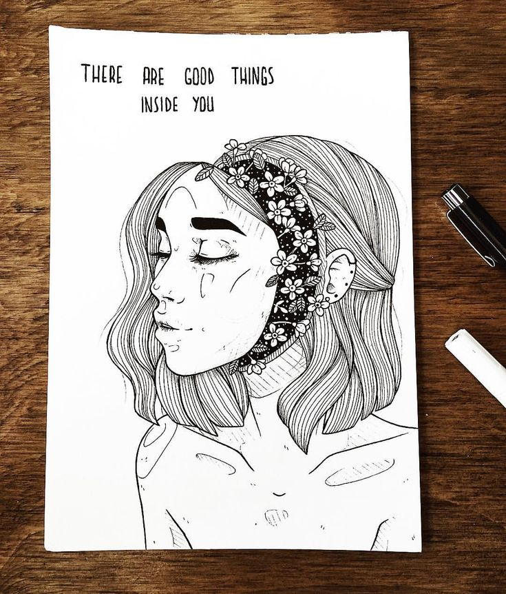 "inktober 28/31 ⭐️""there are good things inside you"" ⭐️/// even during hard times in your life, never forget to take care of yourself. you…"