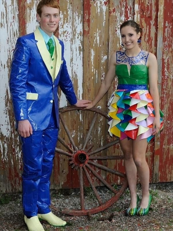 Prom dress duct tape your head