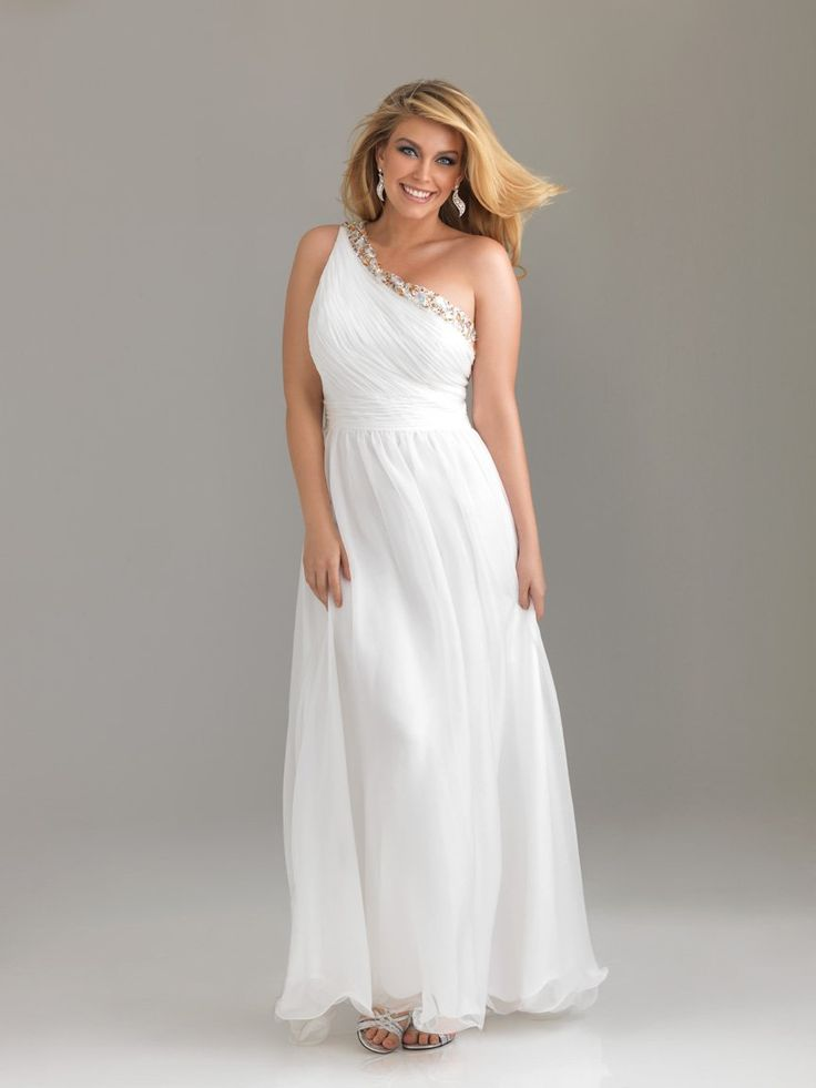 plus-size-white-evening-dresses-