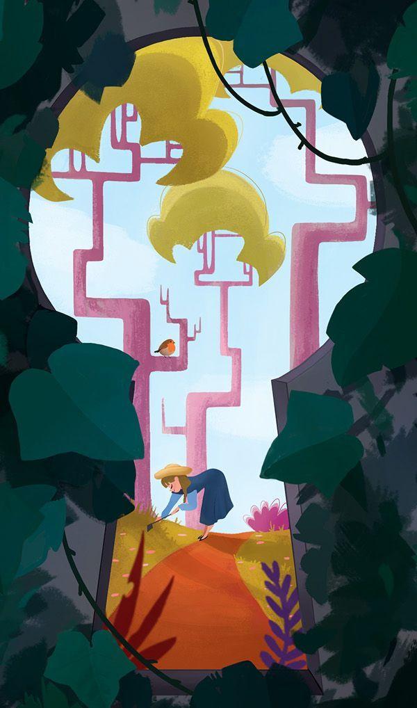 #secret garden cartoon The Secret Garden in 2020 (With ...