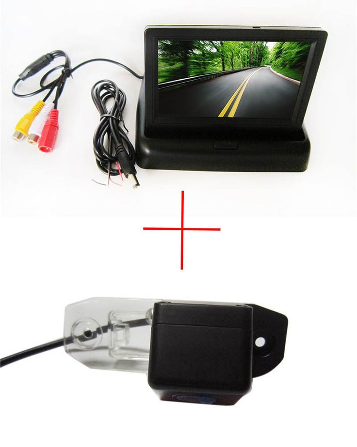 Color Car Rear View Camera For Volvo S80 Sl40 Sl80 Xc60 Xc90 S40 C70 With 4 3 Inch Foldable Lcd Monitor Rear View Camera Volvo S80 Car Camera