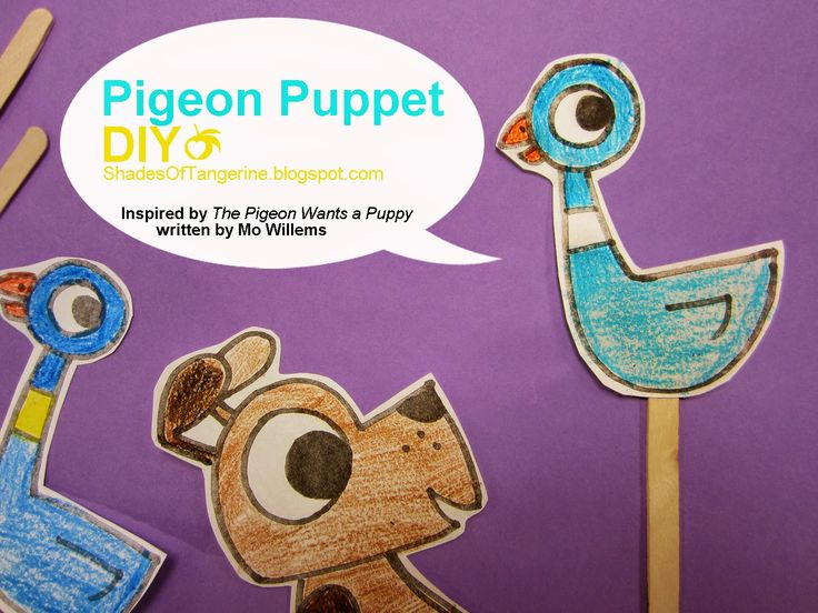 544 best pigeon party images on pinterest mo willems pigeon pigeon puppet diy fandeluxe Image collections