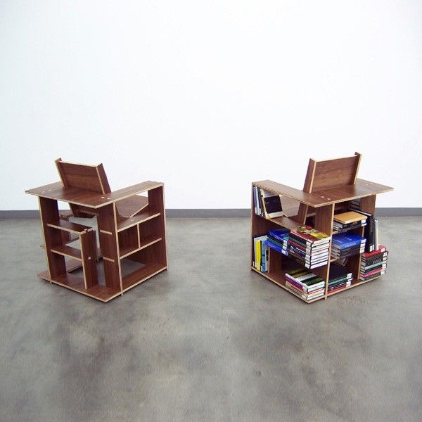 Developed as a chair and a bookcase simultaneously, the intention was to provide both the storage for and a seat in which to read. GREAT and not so #Bizarre4home