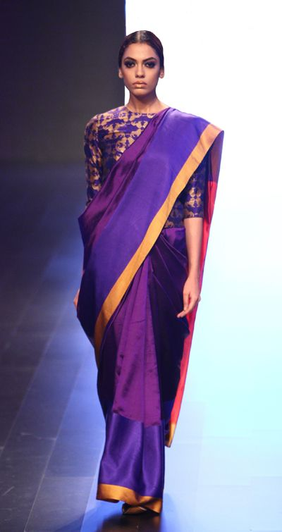 payalkhandwala - AW/2016 - Silk Brocade Blouse and Silk Saree