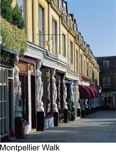 streets of Cheltenham, Gloucestershire.