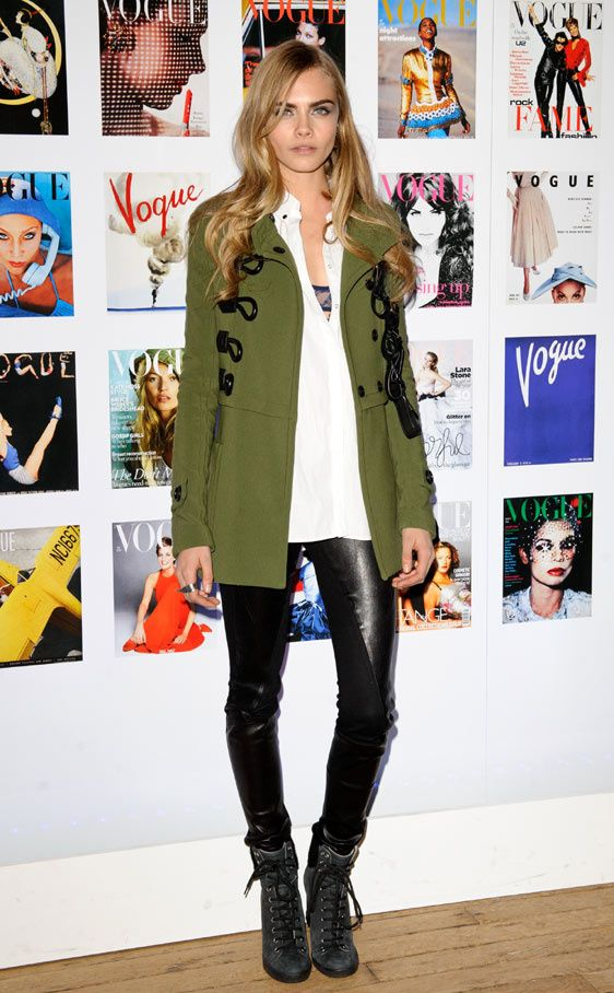 Celebrities y modelos en The Vogue Festival 2012: Cara Delevingne