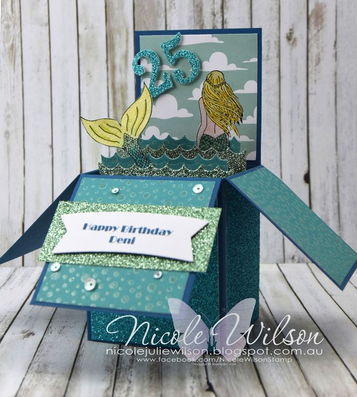 Nicole Wilson Independent Stampin' Up!® Demonstrator - Magical Mermaid Birthday Card #stampinup #mermaid #birthday