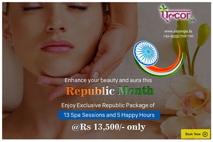 Get the republic package at Alcor Spa and avail a soothing spa session at Rs. 13,500/- only. #AlcorSpa #RepublicPackage #SpaSessions #SoothYourself