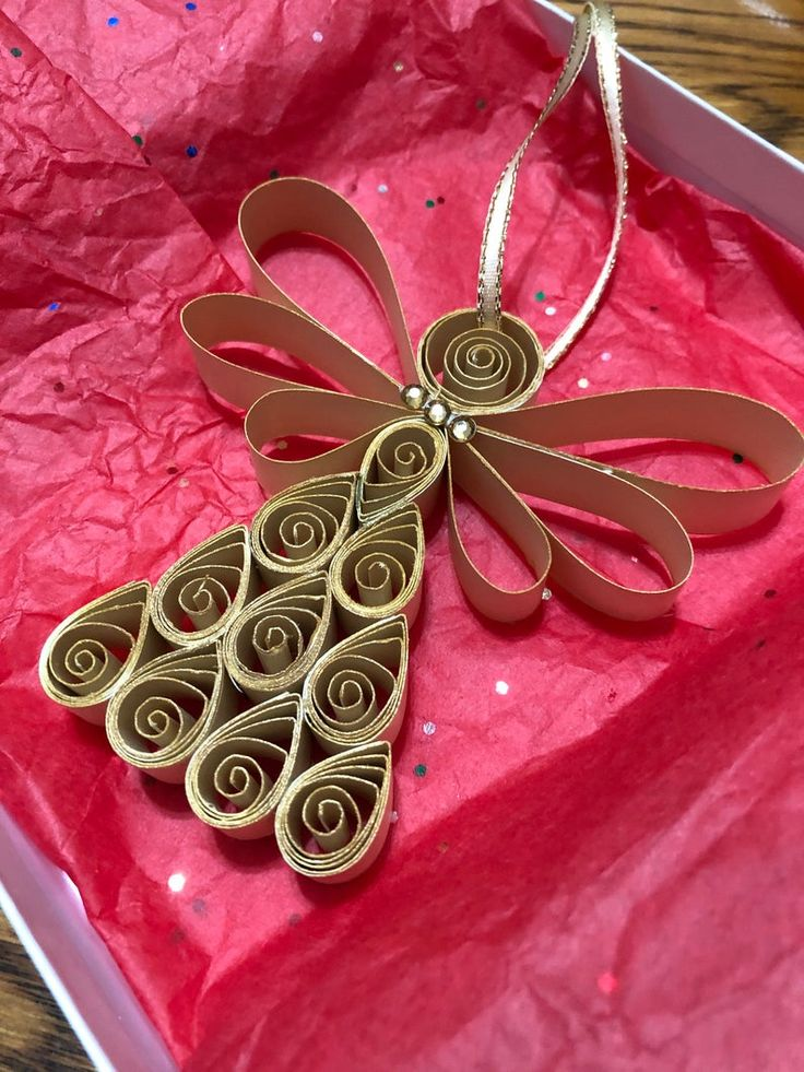 Paper Quilled Art Angel Ornament Christmas Ornament Etsy