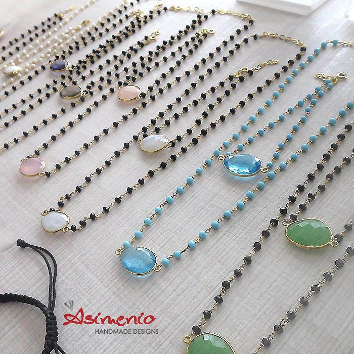 Ροζάρια κολιέ και Βραχιόλια με ημιπολύτιμες πέτρες, δεμένα με Ασήμι 925 επιχρυσωμένο! Και ΔΩΡΕΑΝ Μεταφορικά σε όλη την Ελλάδα. #ροζαρια #ροζαριο #asimenio_gr #rosaries #rosary #rosario #rozaria #rozario #sterling_silver #asimenio #precious_stones #thessaloniki #greece #handmade #necklace #bracelet