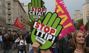Next revolution will seek to overthrow privileges of nationhood  |Robert Shiller | Another intellectual rebellion, in which accepted realities became intolerable injustices, looks destined to take place this century | Caption A TTIP protest in Berlin