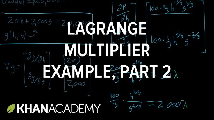 Lagrange multiplier example, part 2