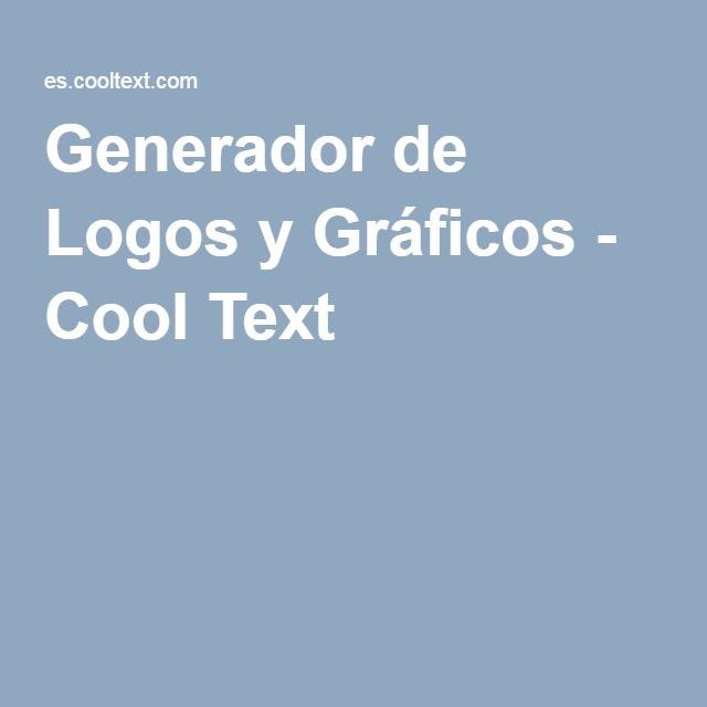 Generador de Logos y Gráficos - Cool Text